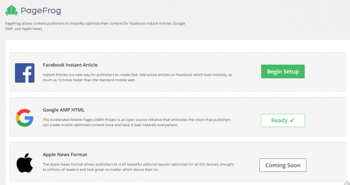 Facebook Instant Articles & Google AMP Pages by PageFrogの使い方と設定方法-8