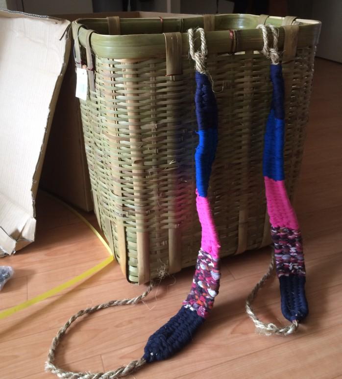 山菜採り用の竹製背負い籠を新調!大サイズなら蕨20kgも目じゃない!